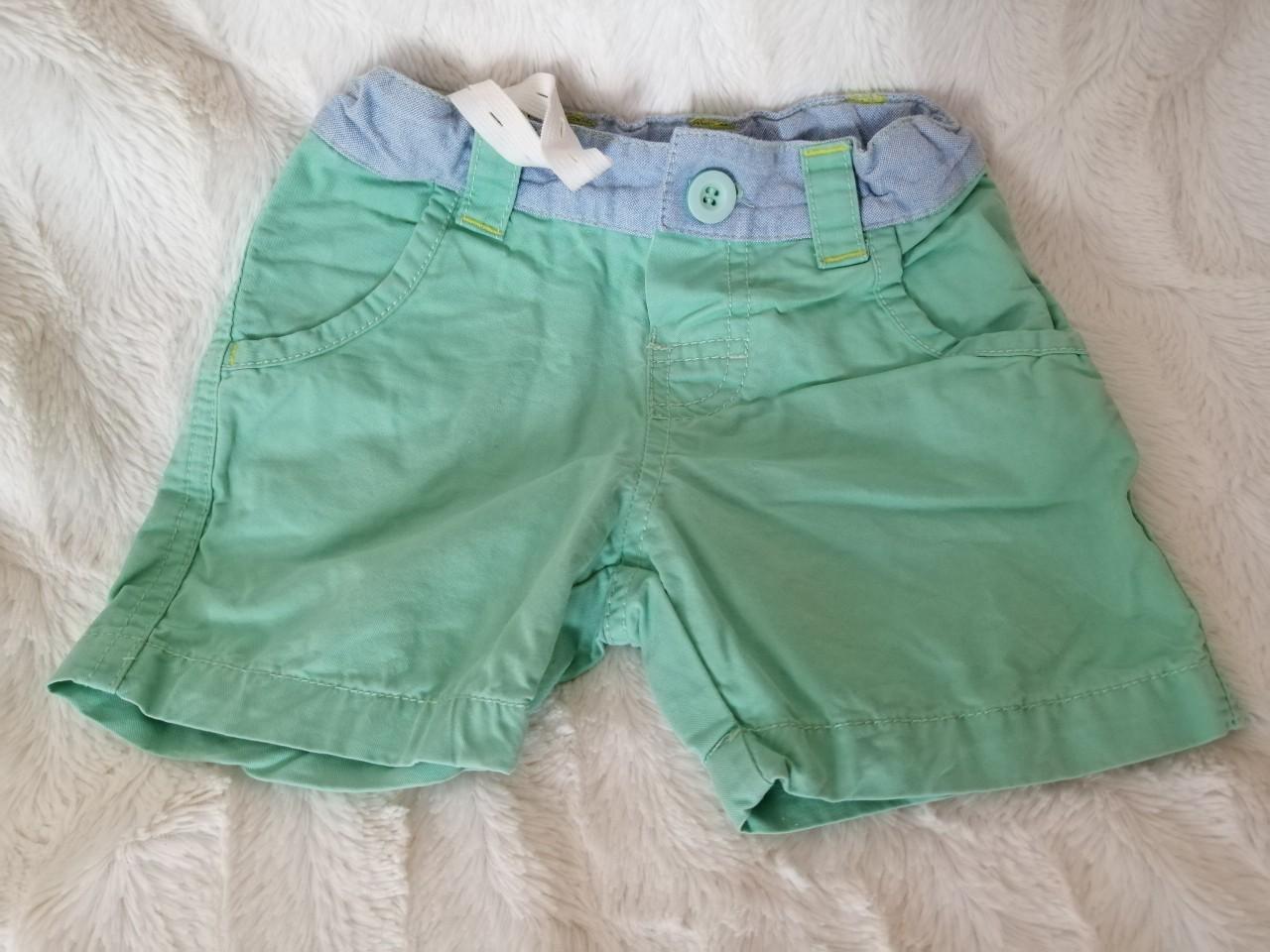 01db9af66e3beb Krótkie spodenki zielone, pistacja jeans, kieszonki rozm. 74-80 1