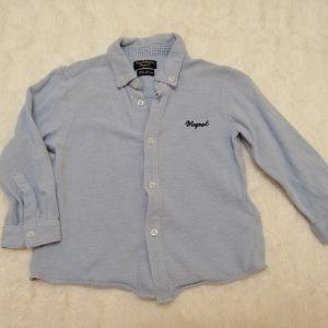 Koszula bawełniana jasno niebieska, rozmiar 80