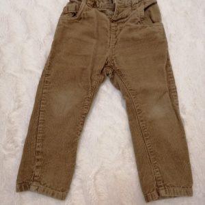Spodnie sztruksy brązowe, rozmiar 86